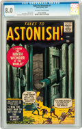 Silver Age (1956-1969):Horror, Tales to Astonish #1 (Marvel, 1959) CGC VF 8.0 Off-white to white pages....