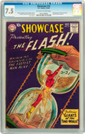 Silver Age (1956-1969):Superhero, Showcase #14 The Flash (DC, 1958) CGC VF- 7.5 Off-white to whitepages....