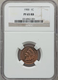 Proof Indian Cents: , 1900 1C PR65 Red and Brown NGC. NGC Census: (78/52). PCGSPopulation (51/10). Mintage: 2,262. Numismedia Wsl. Price for pr...