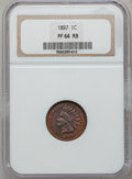 Proof Indian Cents: , 1897 1C PR64 Red and Brown NGC. NGC Census: (84/140). PCGSPopulation (100/59). Mintage: 1,938. Numismedia Wsl. Price for ...