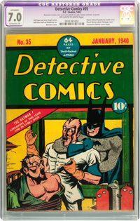 Detective Comics #35 (DC, 1940) CGC Apparent FN/VF 7.0 Extensive (P) Off-white to white pages