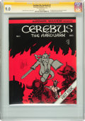 Bronze Age (1970-1979):Alternative/Underground, Cerebus The Aardvark #1 Signature Series (Aardvark-Vanaheim, 1977) CGC VF/NM 9.0 White pages....