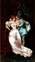 Fine Art - Painting, European:Other , PIO RICCI (Italian, 1850-1919). The Temptress. Oil on canvas. 28-1/2 x 16-1/2 inches (72.4 x 41.9 cm). Signed lower lef...