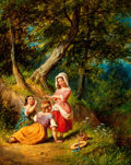 Fine Art - Painting, American:Antique  (Pre 1900), WILLIAM SANFORD MASON (American, 1824-1864). The Flower Gatherers and The Berry Pickers [a pair], 1861. Oil on c... (Total: 2 Items)