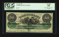 Confederate Notes:1861 Issues, T4 $50 1861 PF-2 Cr. 4 HOC & PC.. ...