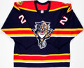 Hockey Collectibles:Uniforms, 2005-06 Kristian Huselius Game Worn Florida Panthers Jersey....