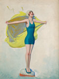 Mainstream Illustration, ENOCH BOLLES (American, 1883-1976). Port O' Dreams, Film Funcover, October 1925. Oil on canvas. 24 x 18 in.. Initialed ...