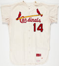Baseball Collectibles:Uniforms, 1967 St. Louis Cardinals Game Worn Jersey with Pants, Cap....