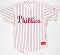 Baseball Collectibles:Uniforms, 1980's Roy Sievers Old Timers Day Worn Philadelphia Phillies Uniform....
