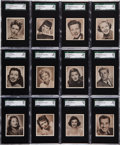 Non-Sport Cards:Sets, 1948 Bowman Movie Stars Complete Set (36) - #1 on the SGC SetRegistry! ...