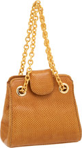 Luxury Accessories:Bags, Judith Leiber Cognac Lizard Small Bag. ...