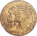 Indian Half Eagles, 1916-S $5 MS63 NGC. CAC....