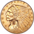 Indian Quarter Eagles, 1912 $2 1/2 MS66 PCGS....