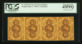 Fractional Currency:First Issue, Vertical Strip of Four Fr. 1230 5¢ First Issue PCGS Extremely Fine 45PPQ.. ...
