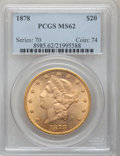 Liberty Double Eagles, 1878 $20 MS62 PCGS. Breen-7270....