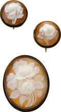 Estate Jewelry:Suites, Shell Cameo, Silver Jewelry Suite. ...