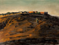 Fine Art - Painting, American:Contemporary   (1950 to present)  , HUGHIE LEE-SMITH (American, 1915-1999). The Hill, circa late 1950s early 1960s. Oil on canvas . 24 x 32-1/4 inches (61.0...