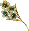 Estate Jewelry:Brooches - Pins, Enamel, Gold Brooch. ...