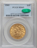 Liberty Eagles: , 1905 $10 MS63 PCGS. CAC. PCGS Population (211/102). NGC Census:(255/183). Mintage: 200,900. Numismedia Wsl. Price for prob...