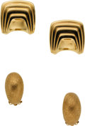 Estate Jewelry:Lots, Gold Earrings. ...