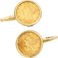 Estate Jewelry:Cufflinks, US Gold Coin, Gold Cuff Links. ...