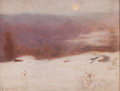 Fine Art - Painting, American:Modern  (1900 1949)  , ALDRO THOMPSON HIBBARD (American, 1886-1972). Winter Light,1912. Oil on canvas laid on board. 8 x 10-1/2 inches (20.3 x...