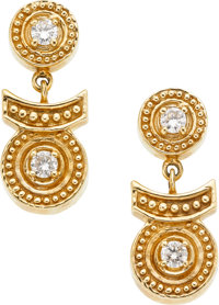 Diamond, Gold Earrings