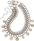 Estate Jewelry:Necklaces, South Sea Cultured Pearl, Gold, Sterling Silver Necklace, DavidYurman. ...