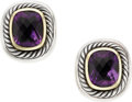 Estate Jewelry:Earrings, Amethyst, Gold, Sterling Silver Earrings, David Yurman. ...