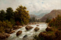 Fine Art - Painting, European:Other , JULIUS ROSE (German, 1828-1911). Alpine Landscape withRiver. Oil on canvas . 18-1/2 x 27 inches (47.0 x 68.6 cm).Signe...