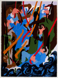 Fine Art - Work on Paper:Print, JACOB LAWRENCE (American, 1917-2000). Revolt on the Amistad,1989. Color Screenprint. 35 x 25-1/2 inches (88.9 x 64.8 cm...