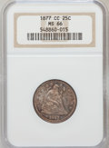 Seated Quarters: , 1877-CC 25C MS66 NGC. NGC Census: (7/4). PCGS Population (11/6).Mintage: 4,192,000. Numismedia Wsl. Price for problem free...