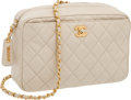 Luxury Accessories:Bags, Chanel Cream Caviar Leather Camera Bag. ...