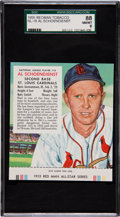 Baseball Cards:Singles (1950-1959), 1955 Red Man Tobacco Red Schoendienst #18 SGC 88 NM-MT 8 - Only OneNicer!...