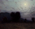 Fine Art - Painting, American:Modern  (1900 1949)  , BIRGE HARRISON (American, 1854-1929). Moonlit Landscape. Oilon canvas . 22 x 18 inches (55.9 x 45.7 cm). Signed lower l...