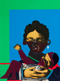 American:Modern, ROMARE HOWARD BEARDEN (American, 1914-1988). Mother and Childfrom Conspiracy: The Artist as Witness, 1971. Color scree...