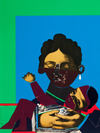 ROMARE HOWARD BEARDEN (American, 1914-1988) Mother and Child from Conspiracy: The Artist as Witness, 1