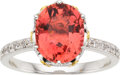 Estate Jewelry:Rings, Pink Sapphire, Colored Diamond, Diamond, White Gold Ring. ...