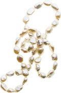 Estate Jewelry:Pearls, Baroque Cultured Pearl Necklace. ...