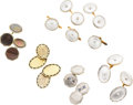 Estate Jewelry:Lots, Multi-Stone, Enamel, Diamond, Gold Cuff Link Lot. ...