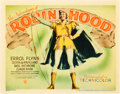"Movie Posters:Swashbuckler, The Adventures of Robin Hood (Warner Brothers, 1938). Title Lobby Card (11"" X 14"").. ..."