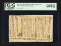Colonial Notes:North Carolina, North Carolina December, 1771 2s6d House; £1; 10s Uncut Sheet ofThree PCGS Very Choice New 64PPQ.. ... (Total: 1 sheet)