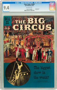 Four Color #1036 The Big Circus (Dell, 1959) CGC NM 9.4 Off-white pages