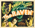 "Movie Posters:Horror, The Raven (Universal, 1935). Title Lobby Card (11"" X 14"").. ..."
