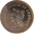 Patterns: , 1871 5C Five Cents, Judd-1051, Pollock-1185, Low R.6, PR64 Brown PCGS. The obverse design resembles that used on regular is...