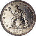 Patterns: , 1871 10C Indian Princess Dime, Judd-1080, Pollock-1216, High R.6, PR65 NGC. The obverse is the same as the previous lot, bu...