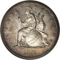 Patterns: , 1871 $1 Indian Princess Silver Dollar, Judd-1133, Pollock-1270, High R.6, PR66 NGC. Longacre's design with an Indian Prince...
