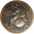 1871 $1 Indian Princess Silver Dollar, Judd-1141, Pollock-1283, High R.7, PR66 Brown NGC. The obverse features the first...