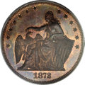 1872 50C Amazonian Half Dollar, Judd-1201, Pollock-1341, Low R.7, PR66 Red and Brown PCGS. The obverse exhibits a seated...