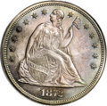 1872 T$1 Seated Liberty Commercial Dollar, Judd-1219, Pollock-1360, Low R.7, PR66 PCGS. The obverse is the regular desig...